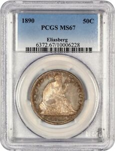 Click now to see the BUY IT NOW Price! 1890 50C PCGS MS67 EX: ELIASBERG   LOW MINTAGE ISSUE