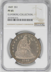 Click now to see the BUY IT NOW Price! 1849 LIBERTY SEATED S$1 NGC PR 65