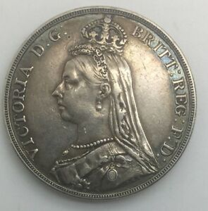 Click now to see the BUY IT NOW Price! GREAT BRITAIN 1889 VICTORIAN JUBILEE CROWN SHARP DETAILS COIN OLD LIGHT CLEANING