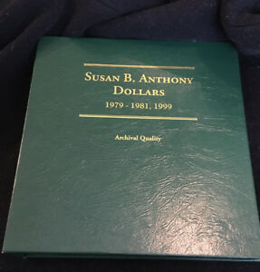 SET OF 18 SUSAN B ANTHONY DOLLARS INCLUDING PROOF ISSUES IN LITTLETON COIN ALBUM