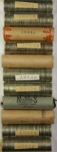Click now to see the BUY IT NOW Price! 1942 45 SILVER WAR NICKEL HALF ROLL SET ONE HALF ROLL 20 COINS EACH DATE/MM BU