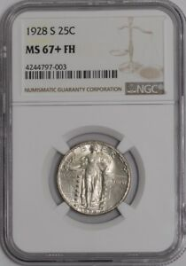 Click now to see the BUY IT NOW Price! 1928 S STANDING LIBERTY QUARTER 25C 937461 2 MS67  FH NGC