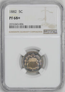 Click now to see the BUY IT NOW Price! 1882 SHIELD 5C NGC PR 68