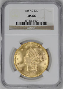 Click now to see the BUY IT NOW Price! 1857 S LIBERTY HEAD $20 NGC MS 66