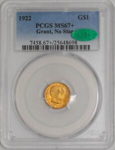 Click now to see the BUY IT NOW Price! 1922 $ GOLD GRANT DOLLAR NO STAR 931651 6 MS67  PCGS   CAC