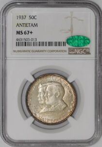 Click now to see the BUY IT NOW Price! 1937 ANTIETAM 50C 938816 40 MS67  NGC   CAC
