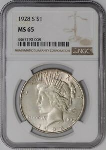 Click now to see the BUY IT NOW Price! 1928 S PEACE DOLLAR $ 938737 15 MS65 NGC