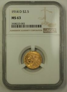 Click now to see the BUY IT NOW Price! 1914 D US INDIAN HEAD QUARTER EAGLE GOLD COIN NGC MS 63  BETTER  BLAZING LUSTER