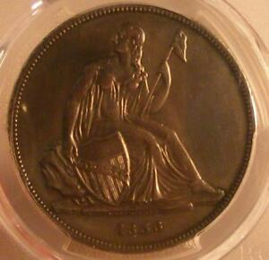 1836 GOBRECHT SILVER DOLLAR PCGS PR GENUINE; REPAIRED; XF DETAIL; ORIGINAL