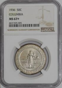 Click now to see the BUY IT NOW Price! 1936 COLUMBIA 50C 938855 45 MS67  NGC   CAC