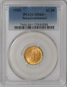 Click now to see the BUY IT NOW Price! 1926 $2 1/2 GOLD SESQUICENTENNIAL 936806 54 MS66  PCGS