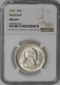 Click now to see the BUY IT NOW Price! 1921 MISSOURI 50C 938842 66 MS66  WHITE NGC