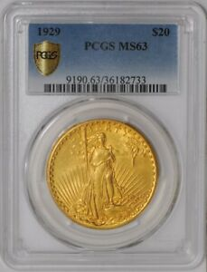 1929 $20 SAINT GAUDENS 939102 1 MS63 SECURE PLUS PCGS
