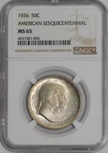 Click now to see the BUY IT NOW Price! 1926 SESQUICENTENNIAL 50C 939043 7 MS65 NGC