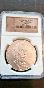 2009 P LINCOLN BICENTENNIAL SILVER COMMEMORATIVE $1 DOLLAR NGC MS69   FREE SHIP