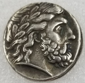 HIGH QUALITY GREAT GREECE ALEXANDER SILVER COMMEMORATIVE COIN J372