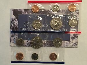 1997 US MINT UNCIRCULATED 10 COIN MINT SET