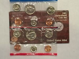 1985 US MINT UNCIRCULATED 10 COIN MINT SET