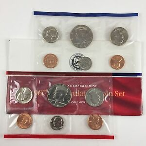 1987 US MINT UNCIRCULATED 10 COIN MINT SET