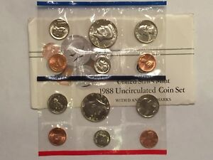 1988 US MINT UNCIRCULATED 10 COIN MINT SET