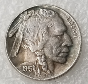 1915 U.S HOBO INDIGENOUS PEOPLE BUFFALO SILVER COLLECTION COIN J396