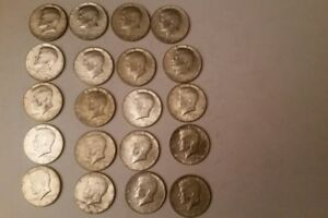 $10 LOT OF 20 1965 70  KENNEDY HALF DOLLARS  40  SILVER COINS