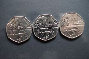 3  2014 ROYAL MINT BRITISH GLASGOW COMMONWEALTH GAMES 50P FIFTY PENCE COIN