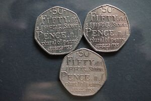 3  2005  50P COIN  250TH ANNIVERSARY OF SAMUEL JOHNSON'S DICTIONARY OF THE