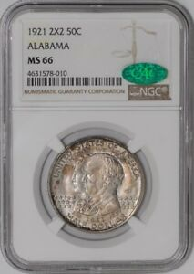 Click now to see the BUY IT NOW Price! 1921 ALABAMA 2X2 50C 939013 1 MS66 NGC   CAC