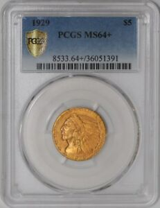 Click now to see the BUY IT NOW Price! 1929 $5 GOLD INDIAN 938209 7 MS64  SECURE PLUS PCGS
