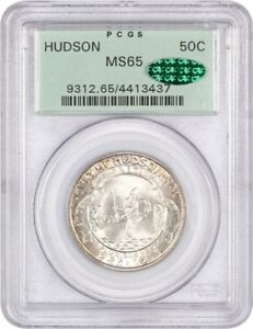 1935 HUDSON 50C PCGS/CAC MS65  OGH  LOW MINTAGE ISSUE   LOW MINTAGE ISSUE