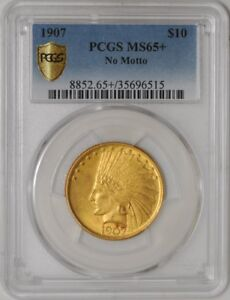 Click now to see the BUY IT NOW Price! 1907 $10 GOLD INDIAN NO MOTTO 938198 13 MS65  SECURE PLUS PCGS