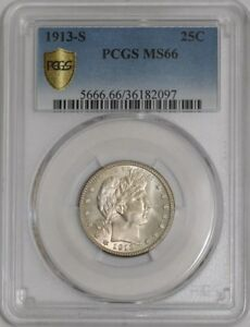 Click now to see the BUY IT NOW Price! 1913 S BARBER QUARTER 25C 939103 4 MS66 SECURE PLUS PCGS
