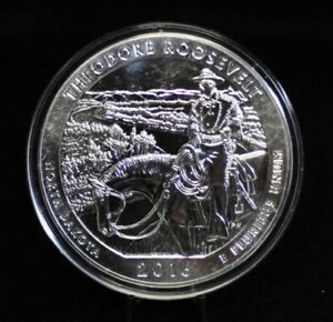 2016 THEODORE ROOSEVELT NP 5OZ AMERICA THE BEAUTIFUL SILVER QUARTER [10DUD]