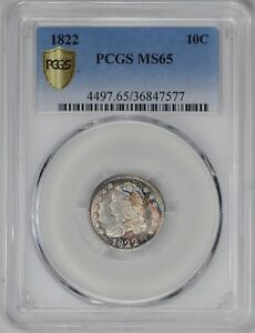 Click now to see the BUY IT NOW Price! 1822 CAPPED BUST 10C PCGS MS 65