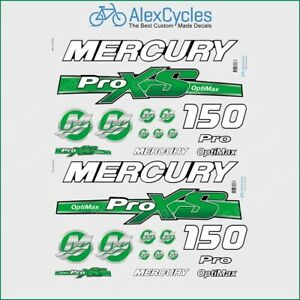 Mercury 225hp Optimax ProXs Outboard Engine Decals Pro XS Reproductions in Stock