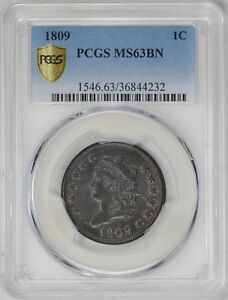 Click now to see the BUY IT NOW Price! 1809 CLASSIC HEAD 1C PCGS MS 63 BN