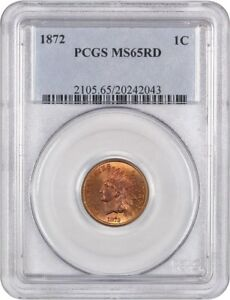 Click now to see the BUY IT NOW Price! 1872 1C PCGS MS65 RD   ATTRACTIVE KEY DATE   INDIAN CENT   ATTRACTIVE KEY DATE