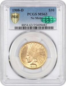 Click now to see the BUY IT NOW Price! 1908 D $10 PCGS/CAC MS63  NO MOTTO  TOUGH DATE   INDIAN EAGLE   GOLD COIN
