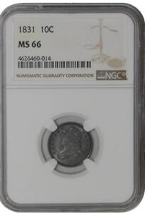 Click now to see the BUY IT NOW Price! 1831 CAPPED BUST DIME 10C 938219 2 MS66 NGC