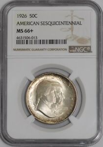 Click now to see the BUY IT NOW Price! 1926 SESQUICENTENNIAL 50C 938855 94 MS66  NGC