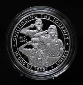 2010 P BOY SCOUTS OF AMERICA COMMEMORATIVE PROOF SILVER DOLLAR [11DUD]