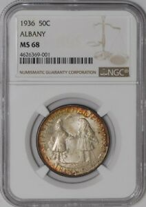 Click now to see the BUY IT NOW Price! 1936 ALBANY 50C 938416 29 MS68 NGC