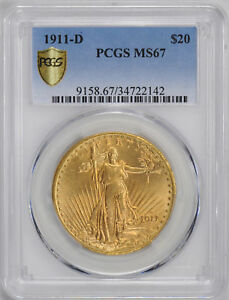 Click now to see the BUY IT NOW Price! 1911 D ST. GAUDENS $20 PCGS MS 67