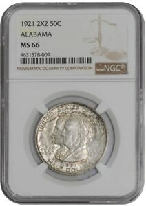 Click now to see the BUY IT NOW Price! 1921 ALABAMA 2X2 50C 939111 8 MS66 NGC