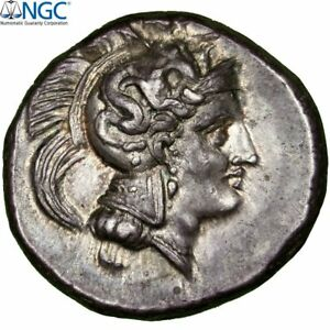 Click now to see the BUY IT NOW Price! [31486] MONNAIE LUCANIE THURIUM ATHENA STATRE THOURIOI GRADE NGC CH