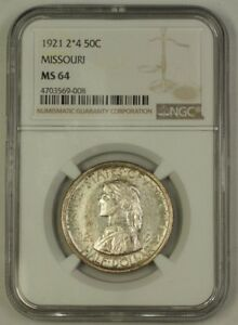 Click now to see the BUY IT NOW Price! 1921 MISSOURI 2 4 COMMEMORATIVE SILVER HALF DOLLAR 50C NGC MS 64 LIGHTLY TONED