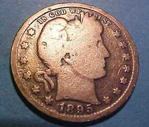 1895 O SILVER BARBER QUARTER  GEM CIRCULATED   DATE  MAKE AN OFFER