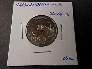 2014 S AMERICA THE BEAUTIFUL QUARTER SHENANDOAH N.P.  UNC CONDITION.