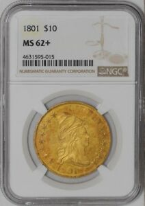 1801 $10 GOLD CAPPED BUST 938839 1 MS62  NGC